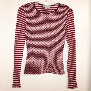 New MISSONI Light Textured Fitted Sweater Size 6
